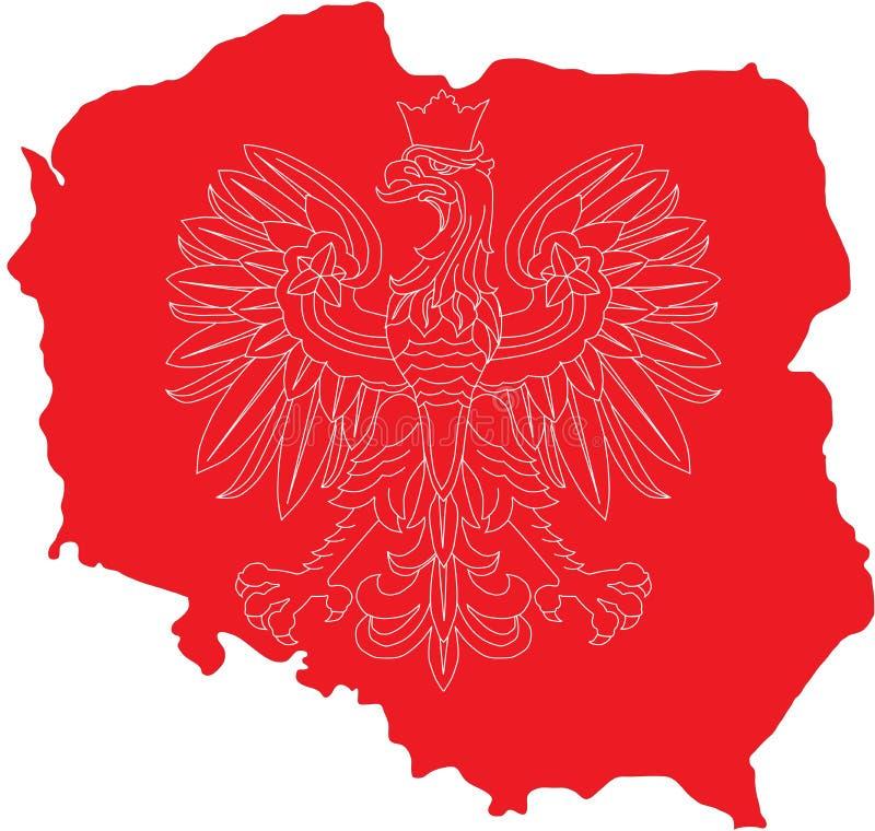 Aquila polacca su sbarco polacco illustrazione di stock