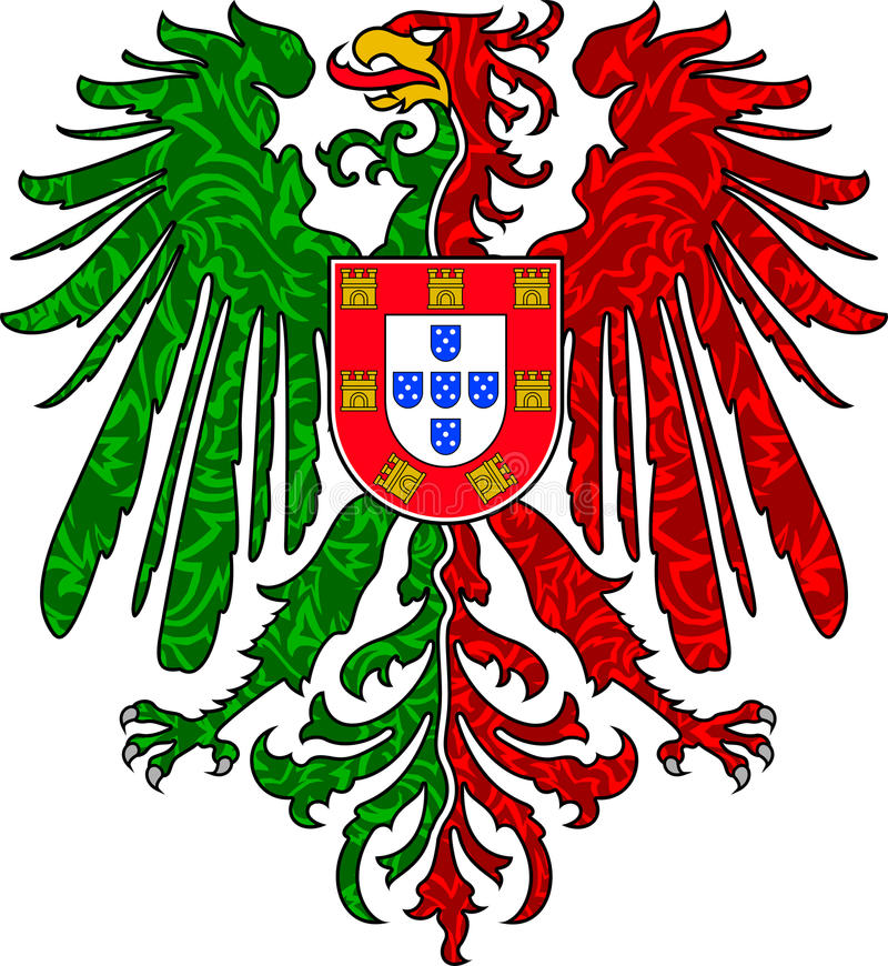Aquila portoghese royalty illustrazione gratis