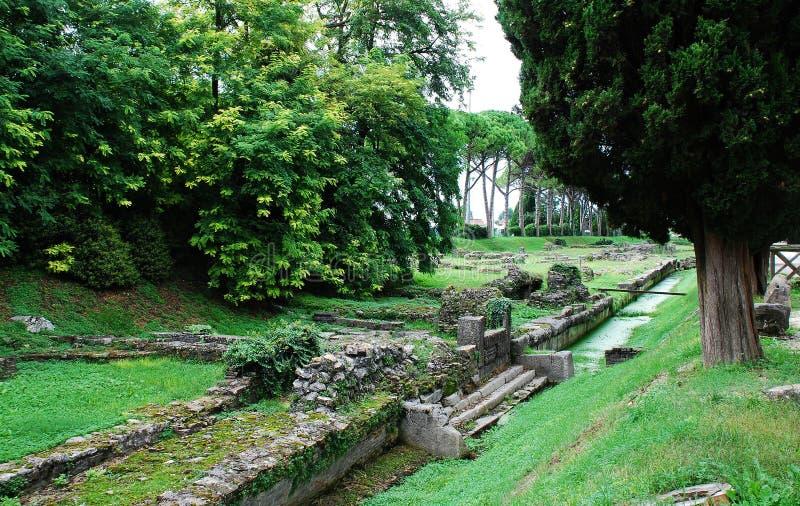 Aquileia Fluvial port fotografia royalty free