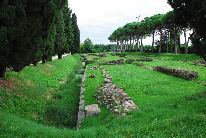 Aquileia Fluvial Port royalty free stock photography
