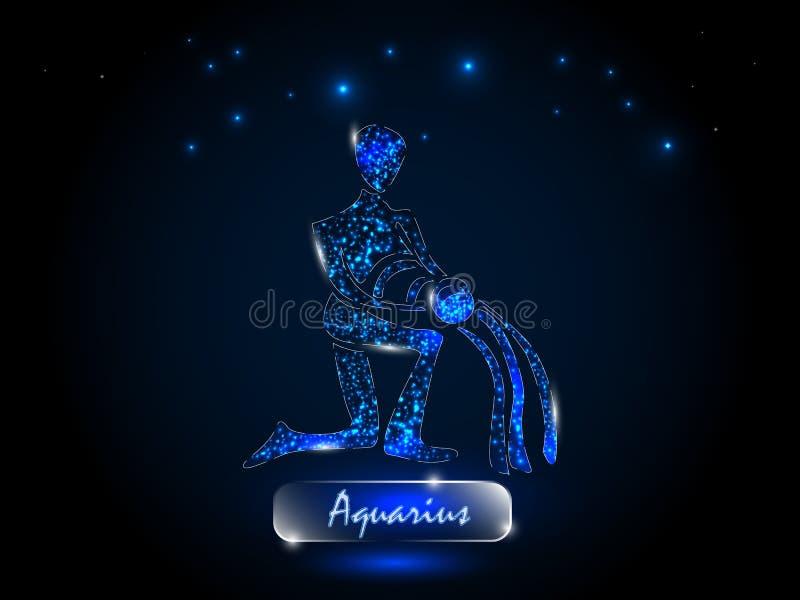 aquinas Zodiac σύμβολο σε ένα υπόβαθρο του έναστρου ουρανού διανυσματική απεικόνιση