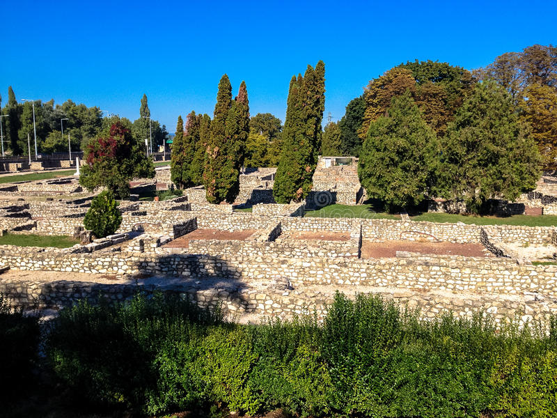 Aquincum в Будапеште стоковое фото