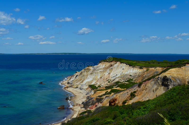 Gay head cliffs, marthas vineyard massachusetts stock image