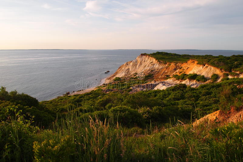 Aquinnah Cliffs stock photography