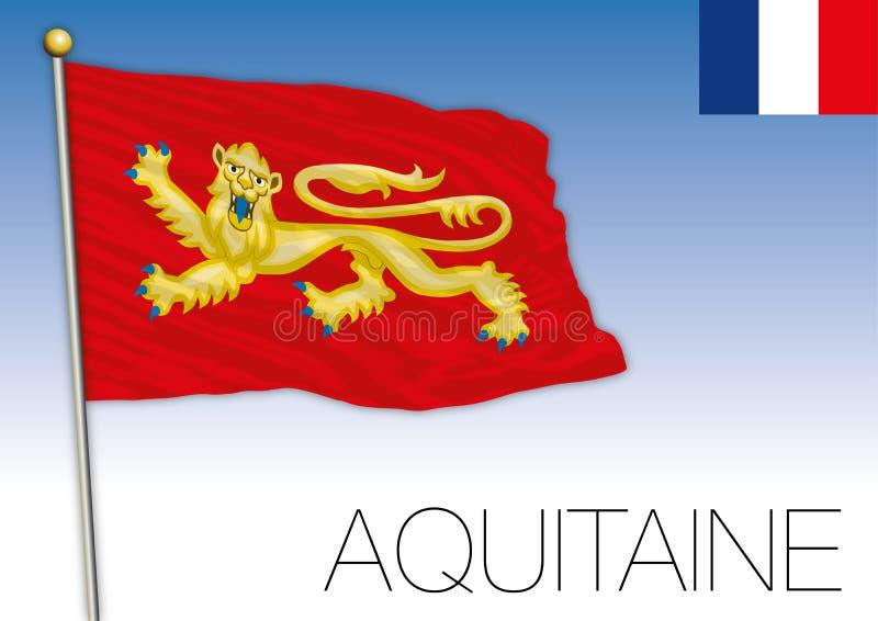 Aquitaine περιφερειακή σημαία, Γαλλία, διανυσματική απεικόνιση απεικόνιση αποθεμάτων