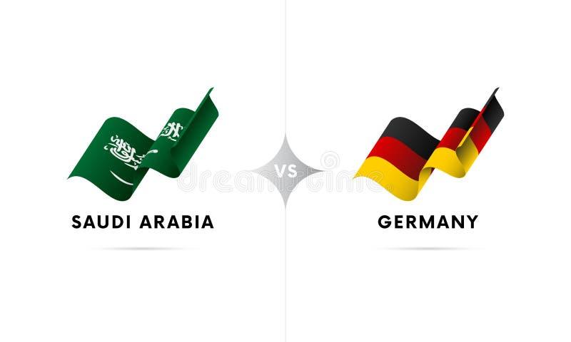 Arábia Saudita contra Alemanha Futebol Ilustração do vetor ilustração do vetor