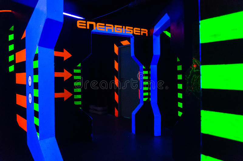 Arène d'étiquette de laser photographie stock
