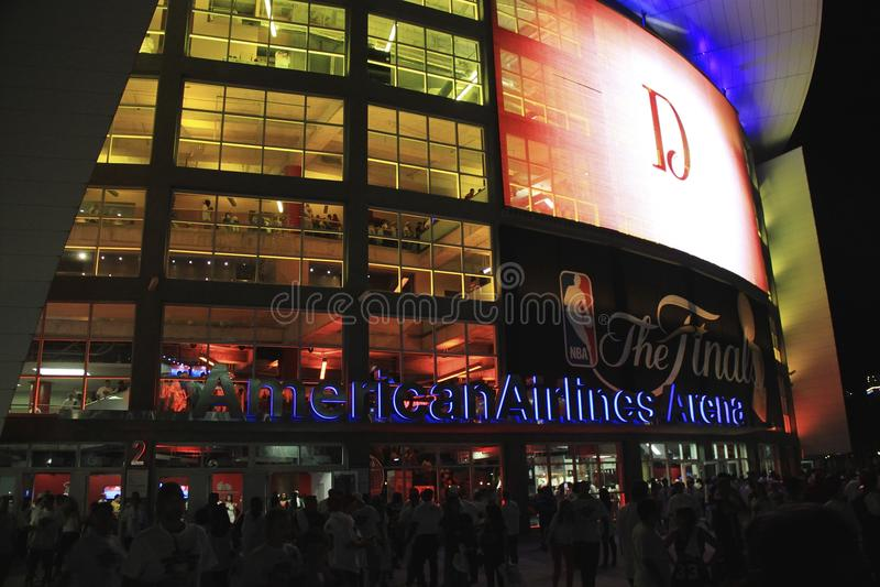 Arène d'American airlines, maison du Heat de Miami image libre de droits