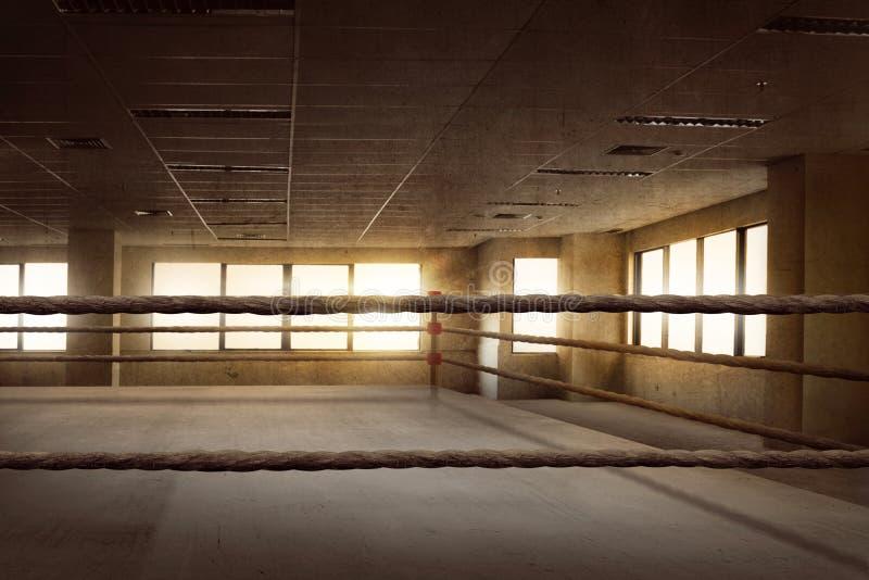 Arène de boxe vide d'anneau pour la formation images libres de droits