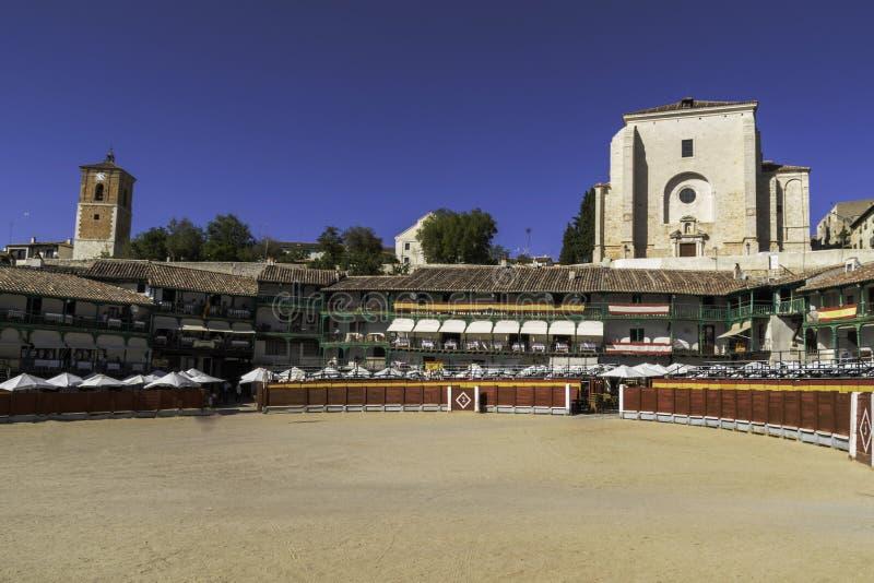 Arène de Chinchon, près de Madrid, l'Espagne photographie stock libre de droits