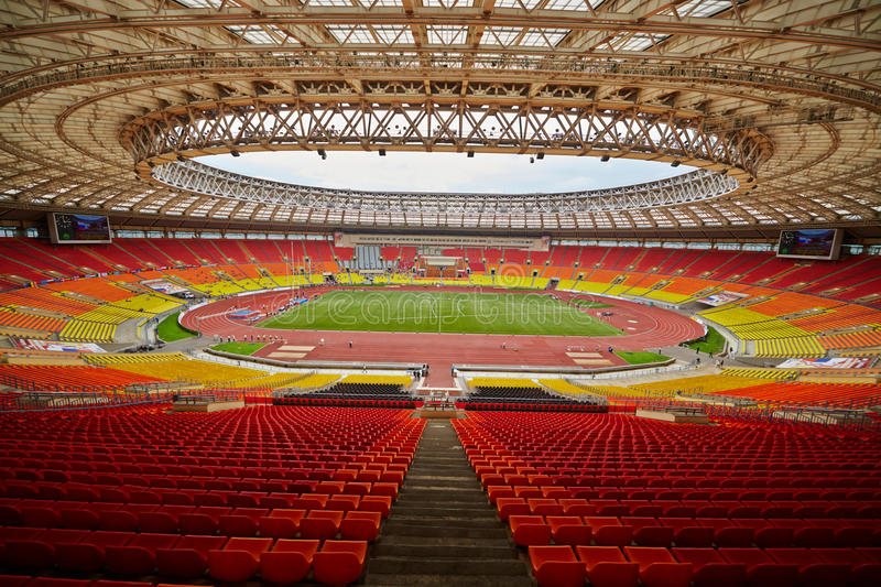 Arène de sports grande de complexe olympique de Luzhniki photo stock