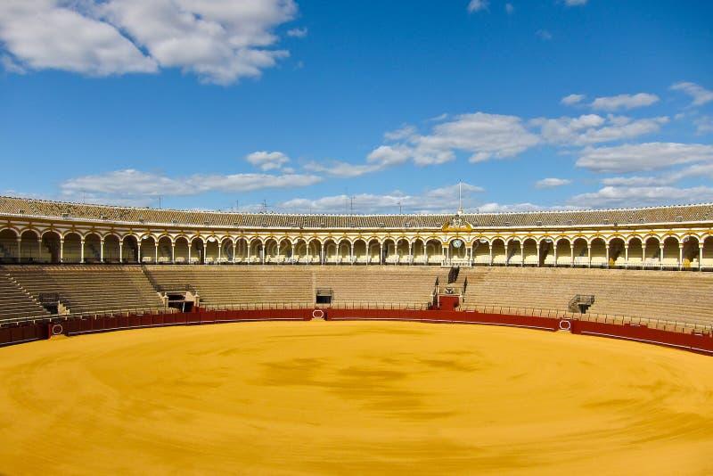 Arène de taureau de Séville image libre de droits