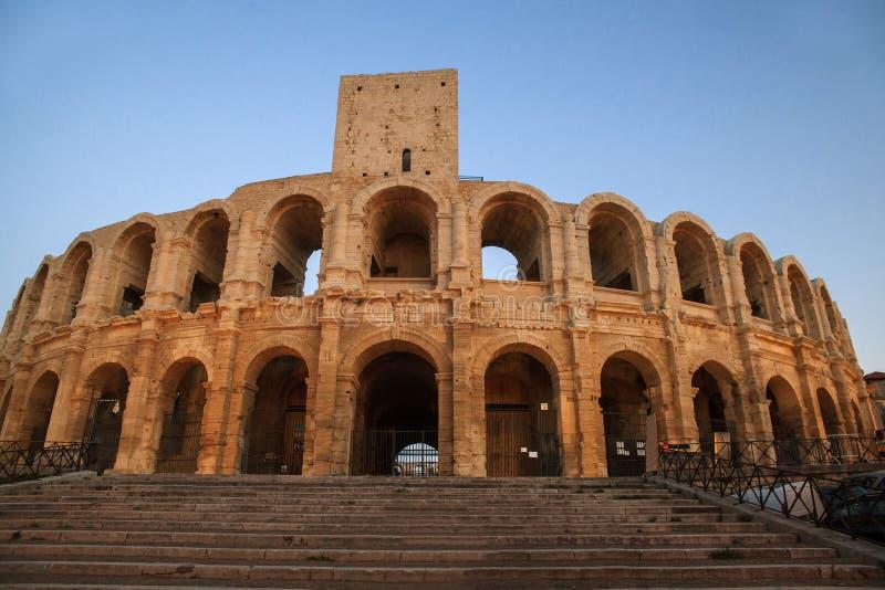 Arène et Roman Amphitheatre photographie stock