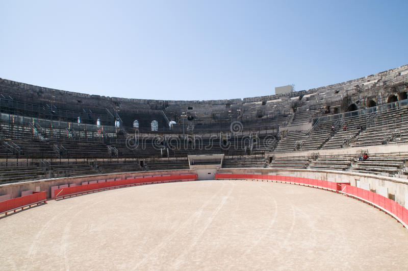 arène Nîmes intérieur romain photos stock