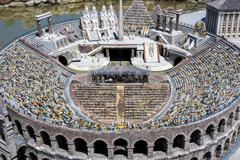 Arène Verona People Opera Italy Mini minuscule images stock