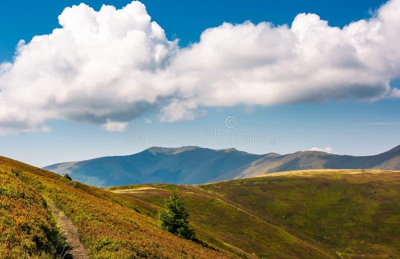 Arête de montagne derrière la Rolling Hills photo libre de droits