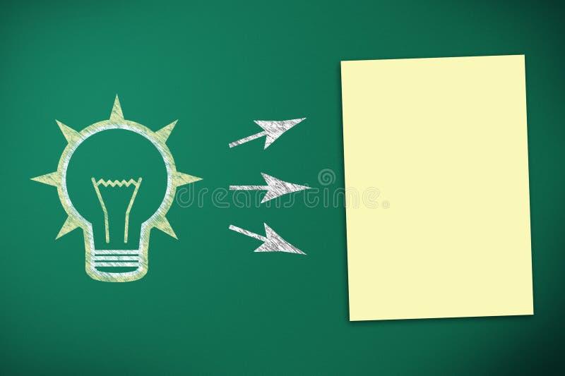Download Żarówka I Pusty Papier Na Czerni Desce Ilustracji - Ilustracja złożonej z współpraca, ilustracje: 28968096