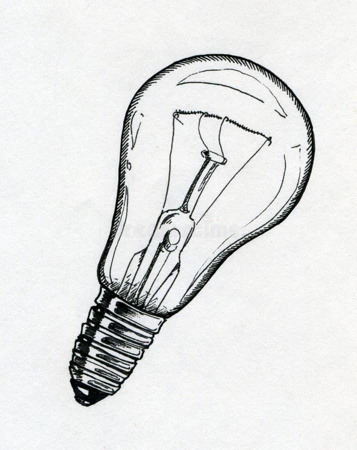 Żarówka rysunek ilustracji