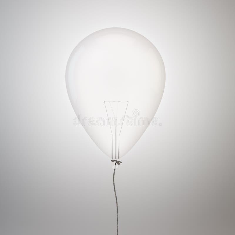 Żarówka wśrodku balonu ilustracja wektor