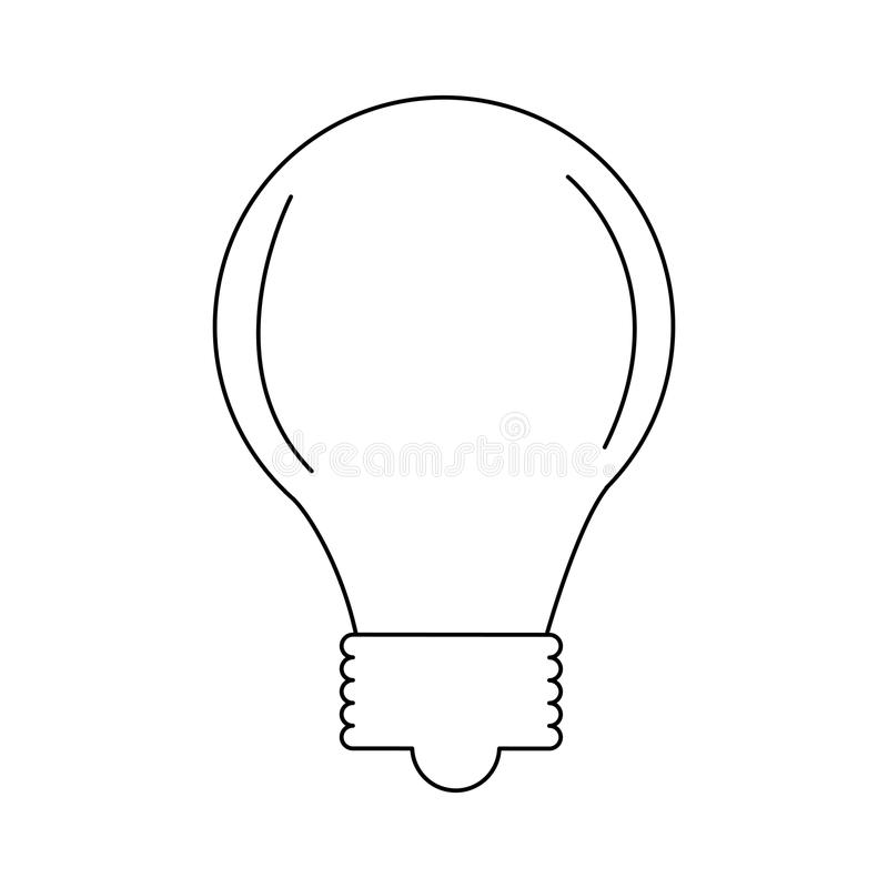 Żarówki światła ikona royalty ilustracja