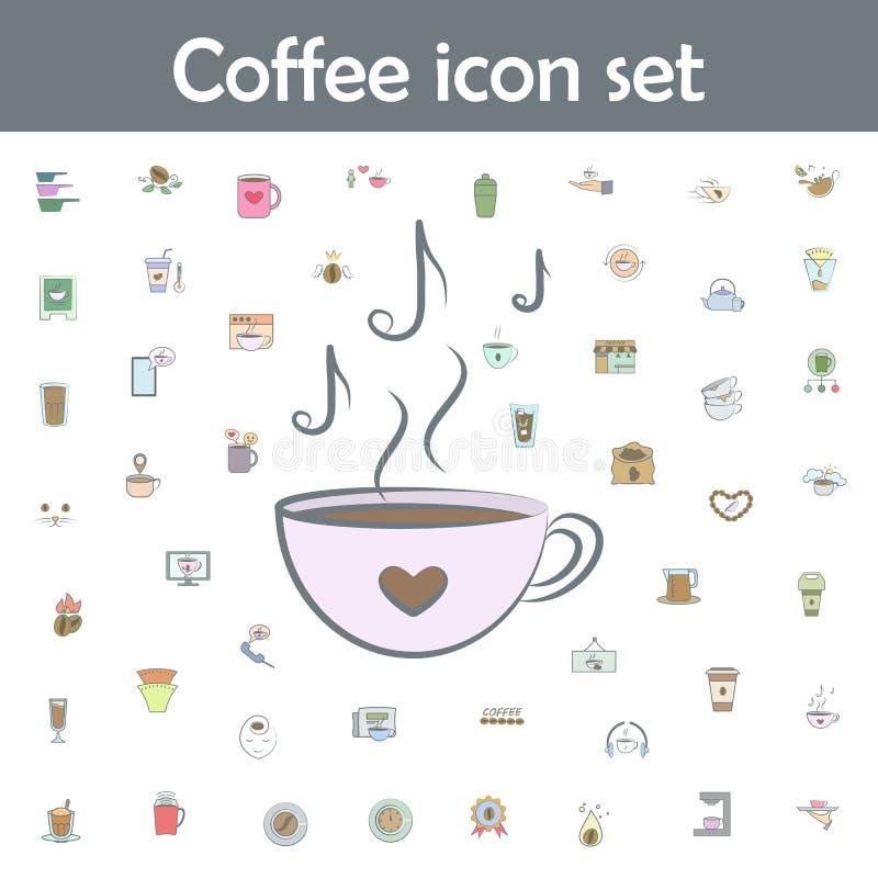 Arôme de notes de café icône en couleur Icônes de café universelles pour le web et le mobile illustration libre de droits