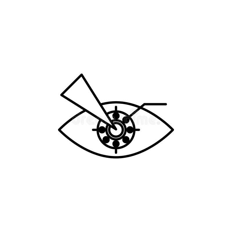 Ar隐形眼镜聪明的象 人工智能象的元素流动概念和网apps的 稀薄的线Ar隐形眼镜 向量例证