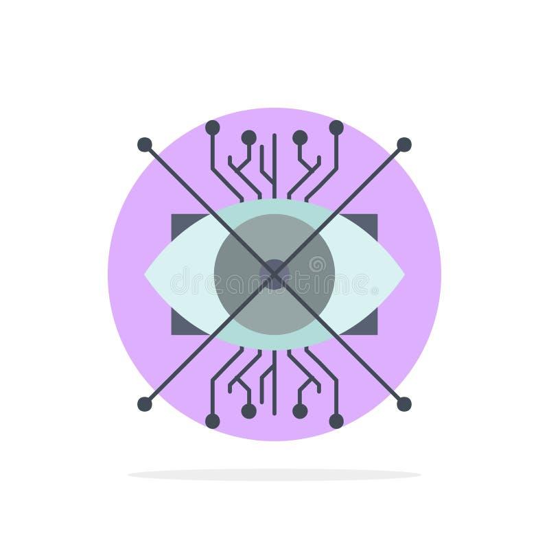 Ar,增广,网络,眼睛,透镜平的颜色象传染媒介 皇族释放例证