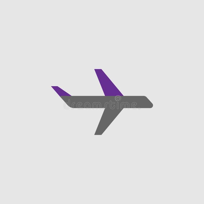 Ar, ícone aviário Elemento do ícone da entrega e da logística para apps móveis do conceito e da Web O ar detalhado, ícone aviário ilustração stock