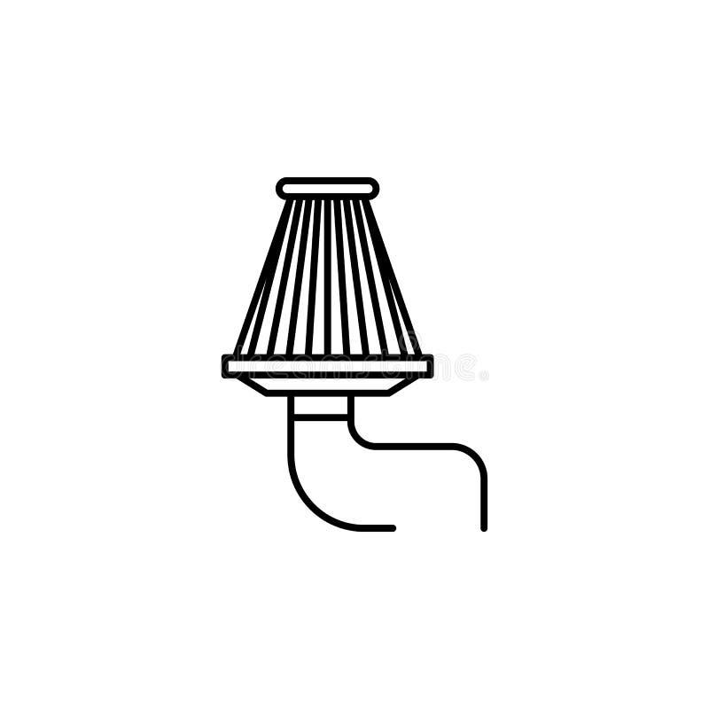 Ar, ícone do esboço do filtro Pode ser usado para a Web, logotipo, app móvel, UI, UX ilustração stock