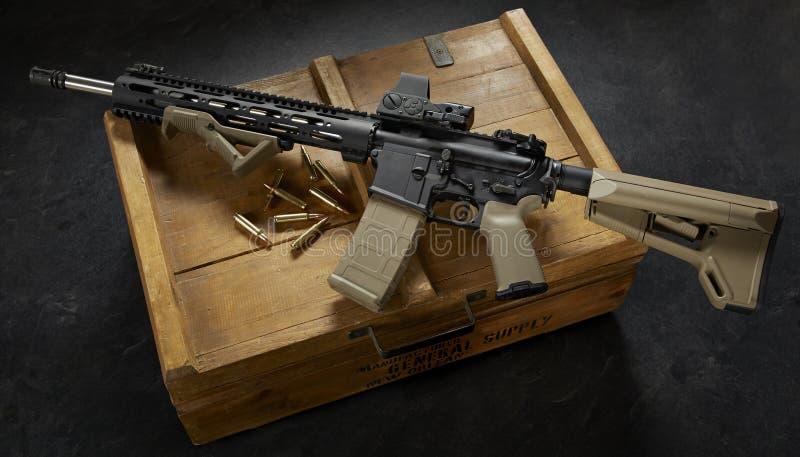 Ar15步枪 免版税库存图片