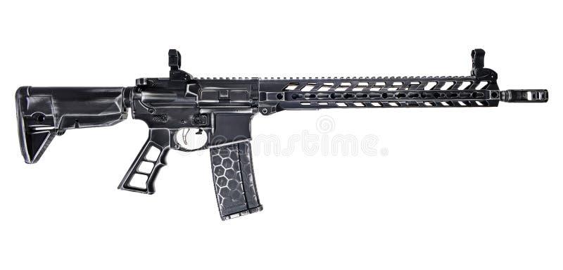 AR15 affligé avec le 30rd magnétique photos libres de droits