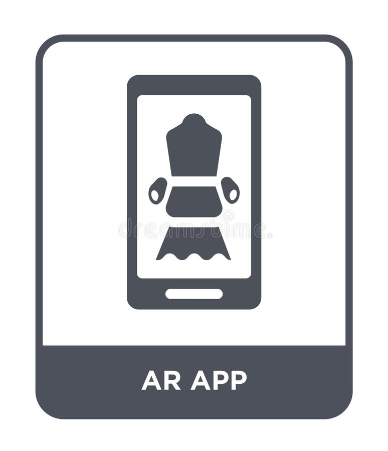 ar app ikona w modnym projekta stylu ar app ikona odizolowywająca na białym tle ar app wektorowej ikony prosty i nowożytny płaski ilustracji