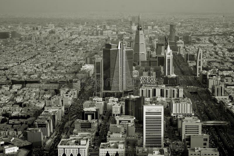 Ar?bia Saudita Riyadh ou Riad A vista da parte superior Panorama da cidade imagem de stock