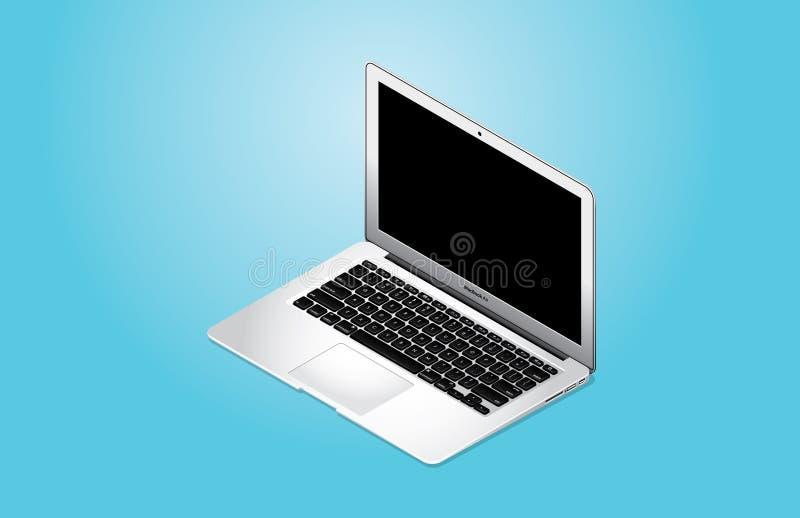 Ar 2014 de MacBook do vetor imagem de stock royalty free