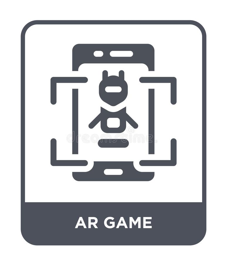 Ar game icon in trendy design style. ar game icon isolated on white background. ar game vector icon simple and modern flat symbol. For web site, mobile, logo stock illustration