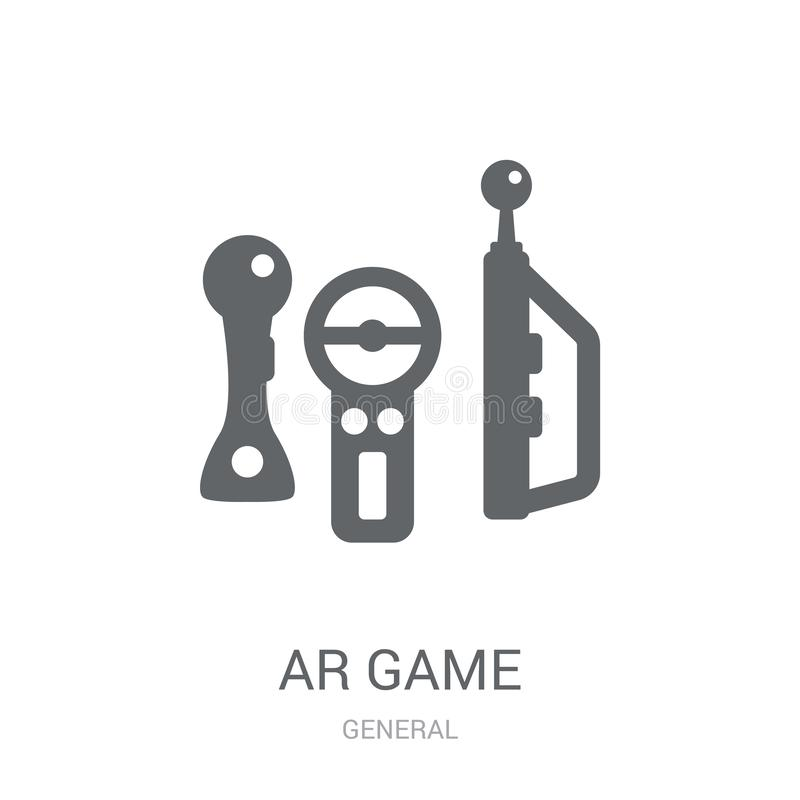 Ar game icon. Trendy ar game logo concept on white background fr. Om General collection. Suitable for use on web apps, mobile apps and print media vector illustration