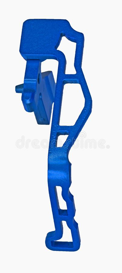 AR15 Hypnotic blue extended bolt catch and release lever stock image