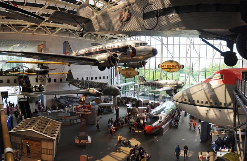 Ar nacional e museu de espaço em Washington imagem de stock