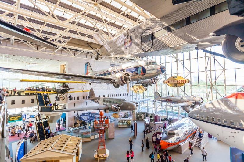Ar nacional e museu de espaço em Washington imagens de stock