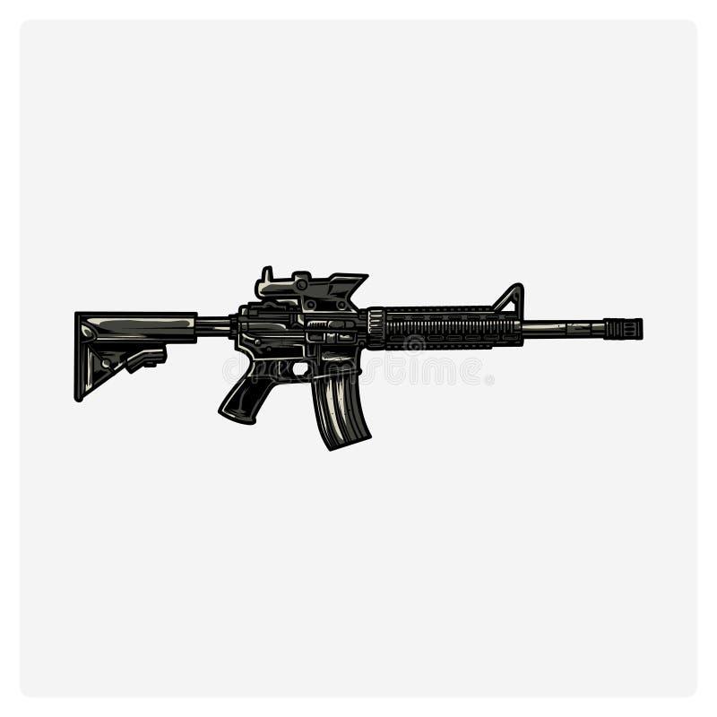 AR-15 också vektor för coreldrawillustration