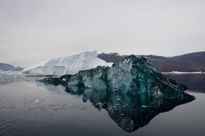 Rare blue Iceberg - Scoresbysund Fjord - Greenland