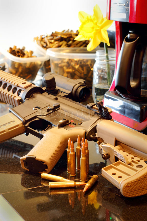 AR Home Defense royalty free stock images
