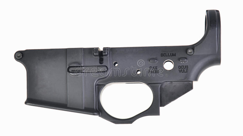 AR15 stripped lower receiver stock images