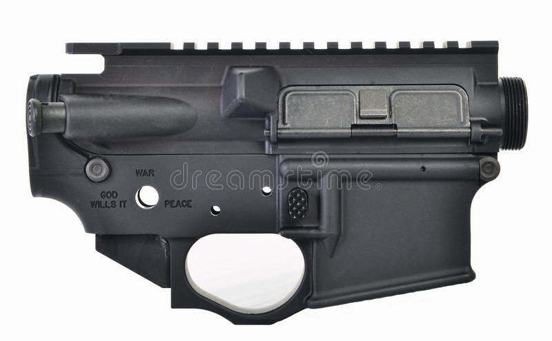 AR15 upper & lower receiver stock photography