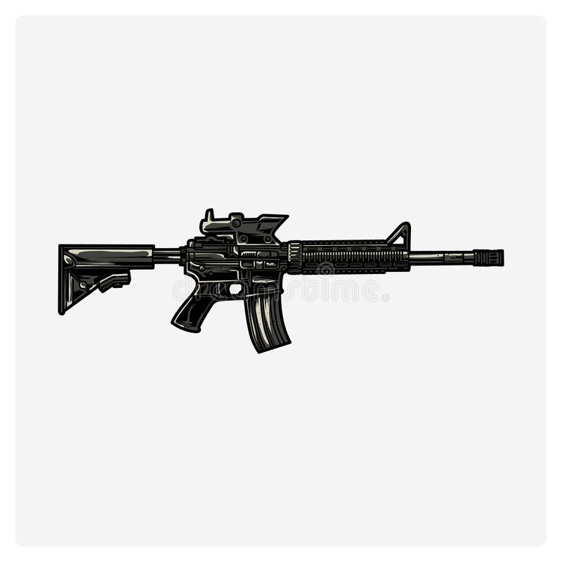 AR-15. Vector illustration. royalty free illustration