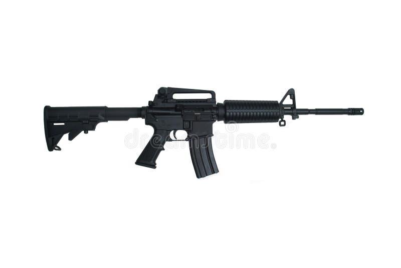 ar15攻击查出的步枪白色 图库摄影