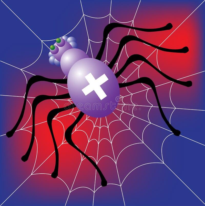 Download Araña ilustración del vector. Ilustración de mordedura - 7277282