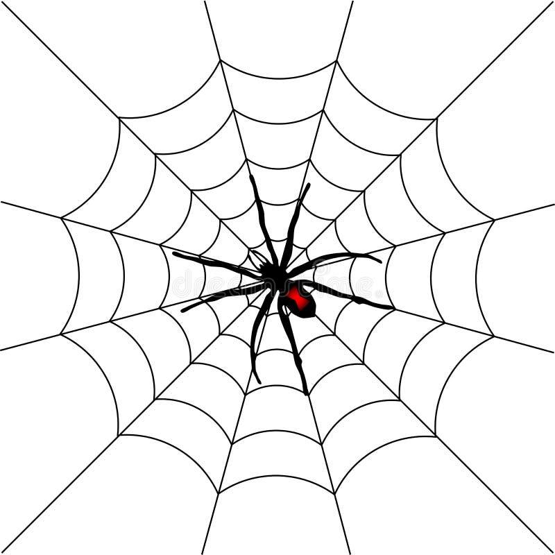 Araña de Víspera de Todos los Santos stock de ilustración
