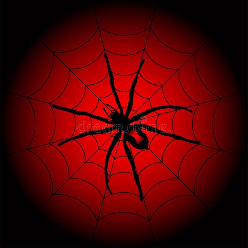 Araña de Víspera de Todos los Santos ilustración del vector