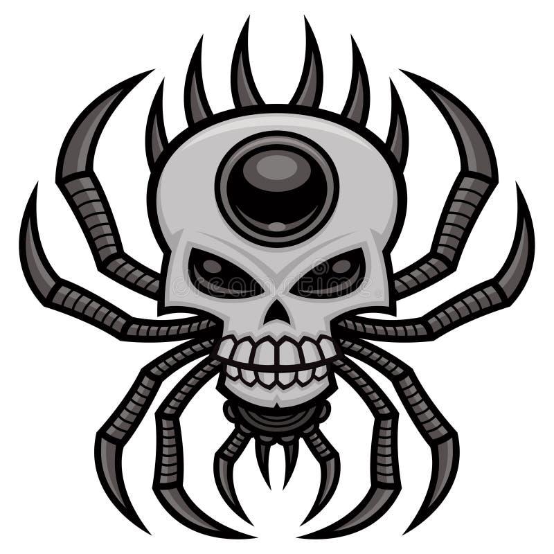 Araña del cráneo - araña del Orbe-tejedor con diseño del cráneo foto de archivo